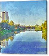 Towers On The Olentangy. The Ohio State University Canvas Print