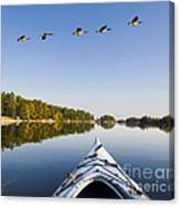 Morning On The Tranquil Lake Canvas Print
