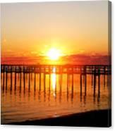 Morning Pier Canvas Print