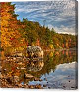 Morning Reflection Of Fall Colors Canvas Print