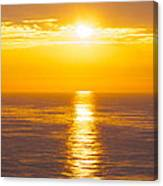 Morning Sky Reflections Canvas Print