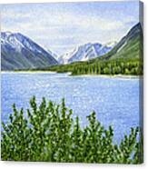 Morning Sun On Kenai Lake Canvas Print