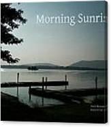 Morning Sunrise By Angela Canvas Print