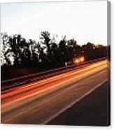 Morning Traffic On Highway Canvas Print