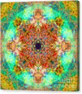 Moroccan Sun Mandala Canvas Print