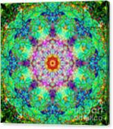 Moroccan Lace Mandala Canvas Print