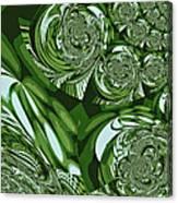 Moroccan Lights - Green Canvas Print