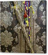Morocco, Tin Decorated Cabinet With Tin Canvas Print
