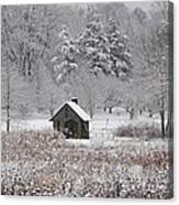 Morris Arboretum Mill In Winter Canvas Print