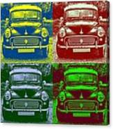 Morris Car In Pop Art Canvas Print