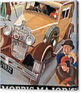 Morris Major 6 - Vintage Car Poster Canvas Print