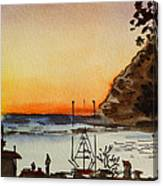 Morro Bay - California Sketchbook Project Canvas Print