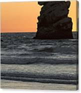 Morro Beach Sunset Canvas Print