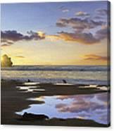 Morro Rock Reflection Canvas Print