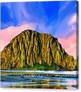 Morro Rock Sunset Canvas Print