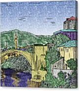 Morstar Bridge Colored Canvas Print