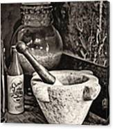 Mortar And Pestle Canvas Print