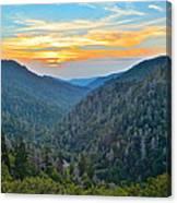 Mortons Overlook Smoky Mountain Sunset Canvas Print
