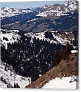 Morzine And Les Gets Panorama Canvas Print