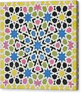 Mosaic Design From The Alhambra Canvas Print
