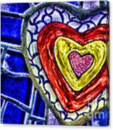 Mosaic Heart By Diana Sainz Canvas Print