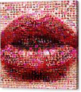 Mosaic Lips Canvas Print