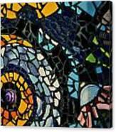 Mosaic Pattern On Wall Canvas Print