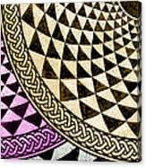 Mosaic Quarter Circle Bottom Left  Canvas Print
