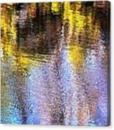 Mosaic Reflection At The River Canvas Print