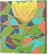 Mosaic Rose Canvas Print