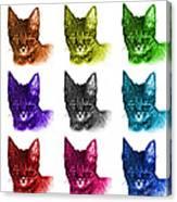Mosaic Savannah Cat - 5462 F - M - Wb Canvas Print