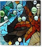 Mosaic Stained Glass - Low Tide Canvas Print