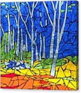 Mosaic Stained Glass - My Woods Canvas Print