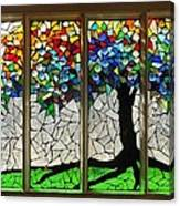 Mosaic Stained Glass - Roots Canvas Print