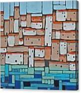 Mosaic Village 2 Canvas Print