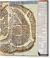 Moscow: Map, 1662 Canvas Print