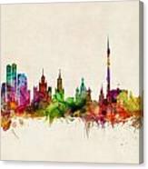 Moscow Skyline Canvas Print