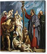 Moses And The Brazen Serpent Canvas Print
