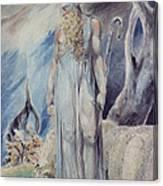 Moses And The Burning Bush Canvas Print