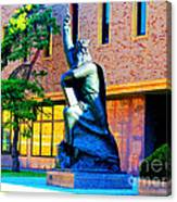 Moses Statue At The Main Library Canvas Print