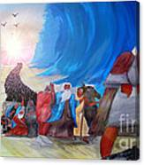 Moses Through The Red Sea Canvas Print