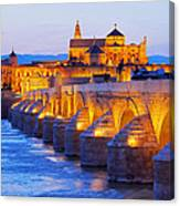 Mosque-cathedral And The Roman Bridge In Cordoba Canvas Print