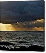Moss Beach Sunset Storm Canvas Print