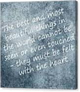 Most Beautiful Two Canvas Print