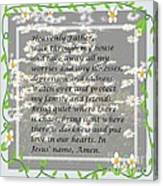 Most Powerful Prayer With Daisies Canvas Print