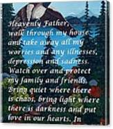 Most Powerful Prayer With Goose Flying And Autumn Scene Canvas Print