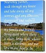 Most Powerful Prayer With Irises Canvas Print