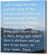 Most Powerful Prayer With Ocean View Canvas Print