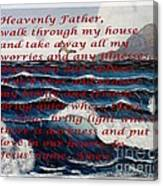 Most Powerful Prayer With Ocean Waves Canvas Print