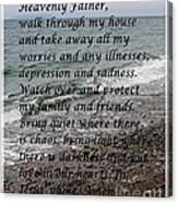 Most Powerful Prayer With Seascape Canvas Print